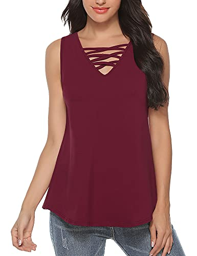 Akalnny Camiseta de Manga Corta Casual Talla Grande para Mujer Cuello Redondo Flare Blusa Suelto Verano Algodón T-Shirt Tops de Encajes …