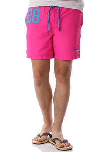 Superdry Badeshorts Herren Waterpolo Swim Shorts Cantina Pink, Größe:XL