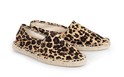 Buffalo Damen Espadrilles Ballerinas 177604 braun (Leopard 01) (37)