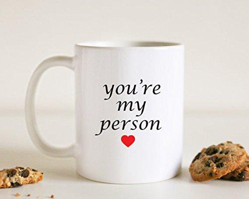 piaLine You' re My Person mug Grey S Anatomy tazza divertente tazza di caffè regalo per lui regalo di compleanno per lei Coffee Lover Gift Best Friend tazza