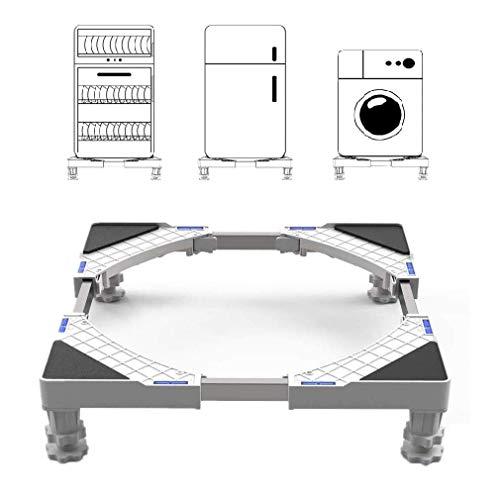 Seisso Soporte para Lavadora/Secadora/Refrigerador Base con 4 Pies de Goma y 4 Ruedas Giratorias Ajustable de 44.8~69cm