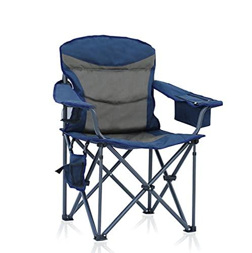 FLZXSQC Silla plegable al aire libre, respaldo de taburete simple plegable portátil, utilizado para acampar y pesca ocio más asiento de algodón