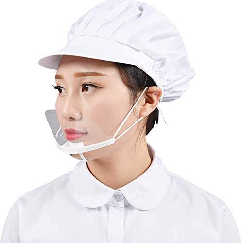 PANHU 10 Stück Gesichtsschutz, transparentes Anti-Fog-Spray Speichel Chef Spuck Mundschild Lebensmittelschutz Mundschutz Kunststoff-Gesichtsschutz für Hotel Kitchen Restaurant