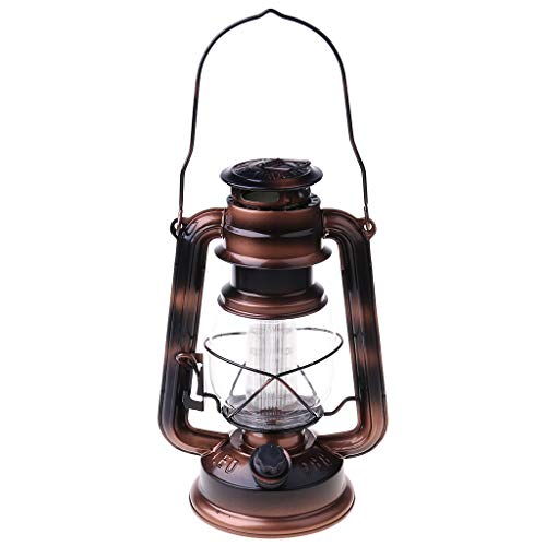 Wanghuaner Vintage LED Lamp Lantern Energy Saving Handheld Flashlight with Hanging Hook