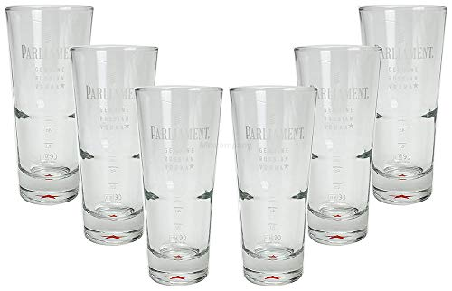 Mixcompany Parliament Russion Vodka Longdrinkglas - Longdrink Glas/Gläser Set - 6X Longdrinkgläser 2/4cl geeicht - 2cl / 4 cl Eichung