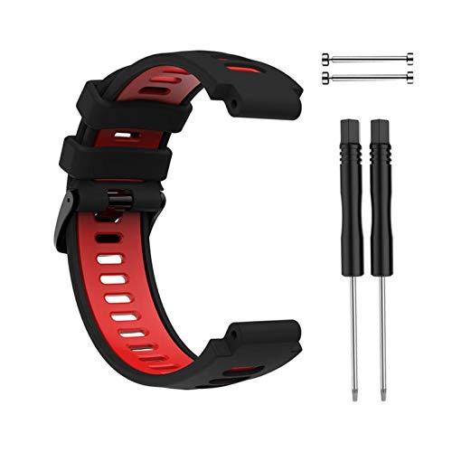 Nueva Pulsera Al Aire Libre para Garmin Forerunner 735XT 220 230 235 620 630 Smart Watch Soft Silicone Strap Reemplazo De La Banda De Reloj (Color : Khaki)