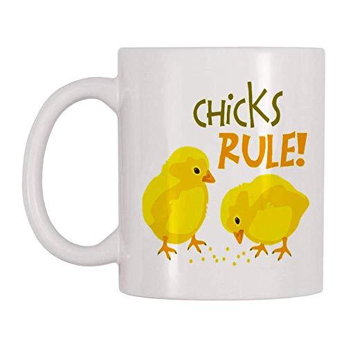 NA Regalo del Día de Pascua-Regla de los Pollitos-Cute Chicks Yellow Mug-Peeps...