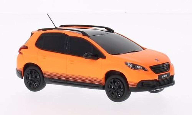 Peugeot 2008, mattorange, 2013, Modellauto, Fertigmodell, Norev 1 43