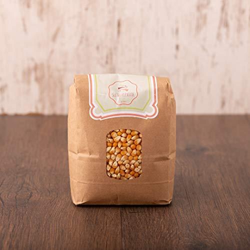süssundclever.de® Bio Popcornmais | 2 x 1 kg | ungezuckert | plastikfrei und ökologisch-nachhaltig abgepackt | Popcorn-Mais