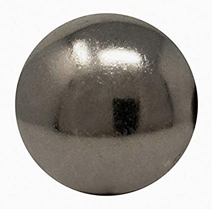 ComfortStyle Premium Upholstery Tacks 1-inch Diameter Nailhead Pins Large Decorative Trim for Furniture 25, Pewter Nickel