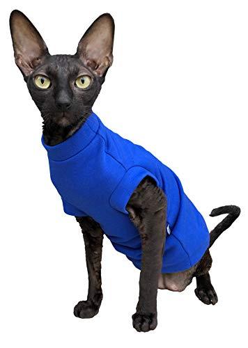 Kotomoda Katzen Kleidung Warm Turtleneck Maxi Winter in Blau (XL)