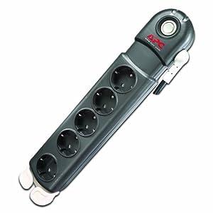 APC Surge Arrest Essential - PL5B-DE - Regleta con protección contra subidas y picos de tensión compatible con PLC