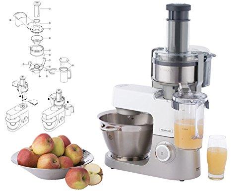 Kenwood KMC010 - Centrifuga Originale per Kitchen Machine e Coocking Chef (azione di spremitura continua con una brocca di succo collegabile da 1 litro)