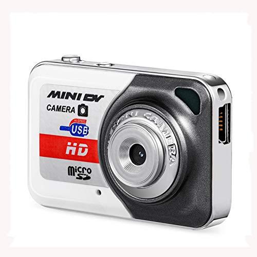 QK Digitalkamera, HD-Kamera Für Backpacking Aufladbare Mini-Kamera Students Kameras Taschenkameras Digital Mit Zoom Kompaktkameras Für Fotografie,Weiß