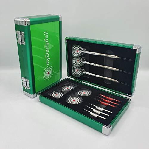 myDartpfeil Aluminium Dartcase ROYAL in grün Alu Darttasche/Dartkoffer