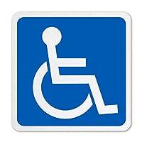 身障者用設備 国際シンボルマーク ステッカー 高耐候&高耐久&強粘着 屋外可能 ステッカー 障害者用 車椅子 再帰反射タイプ 100X100mm (1枚)