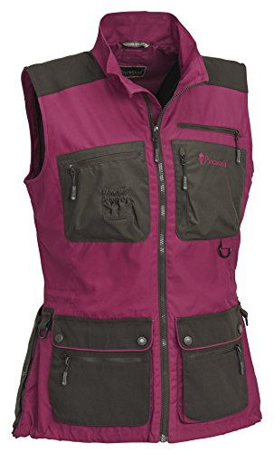 Pinewood Damen New Dog Sports Weste, Fuchsia/Wildlederbraun, M