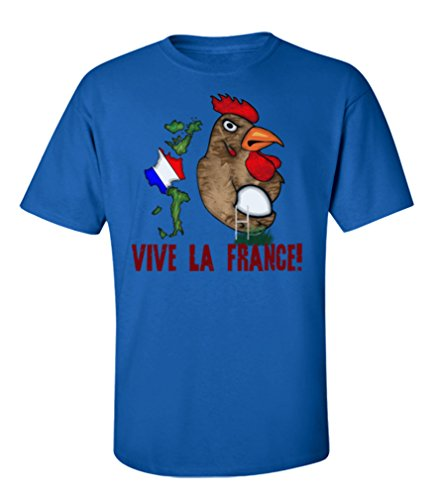 Tee Spirit France Rugby Mens T-Shirt para Hombre y Mujeres Camiseta Six Nations Unisexo Fan Made