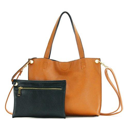 Scarleton Small Reversible Crossbody Bag H184220192501, Camel/Black