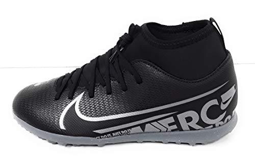Nike Youth Soccer Mercurial Superfly 7 Club Turf Shoes (6 Big Kid M US) Black