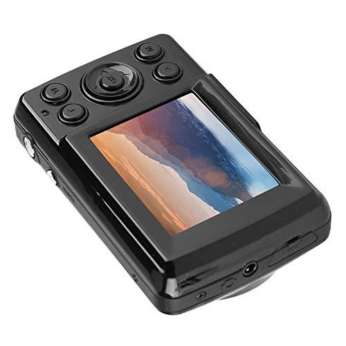 Pusokei Mini videocámara con cámara de Video Digital HD de 16MP 720P 30FPS con Zoom 4X para Exteriores con Pantalla Grande de 2.4 Pulgadas, alimentada por 3 Pilas AAA, Conveniente de Usar(Negro)