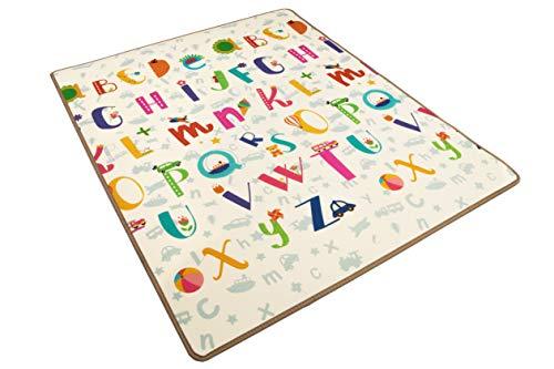 Alfombra infantil enrollable Suelo para bebes acolchado 2 caras, impermeable y lavable 150 cm x 100 cm (Modelo 2)