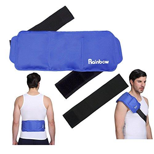 Bolsa de plástico fría - alivia el riesgo de lesiones deportivas, dolor, dolor en las articulaciones, contusiones y esguinces - Para la rodillas, hombros, cintura, espalda -15