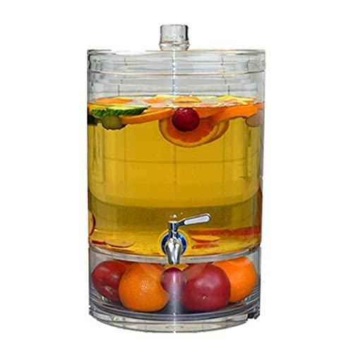 Dispensador dispensador de bebidas para zumos o cualquier otra bebida, dispensador de limonada (color: transparente, tamaño: 41 x 25,4 x 10,5 cm)