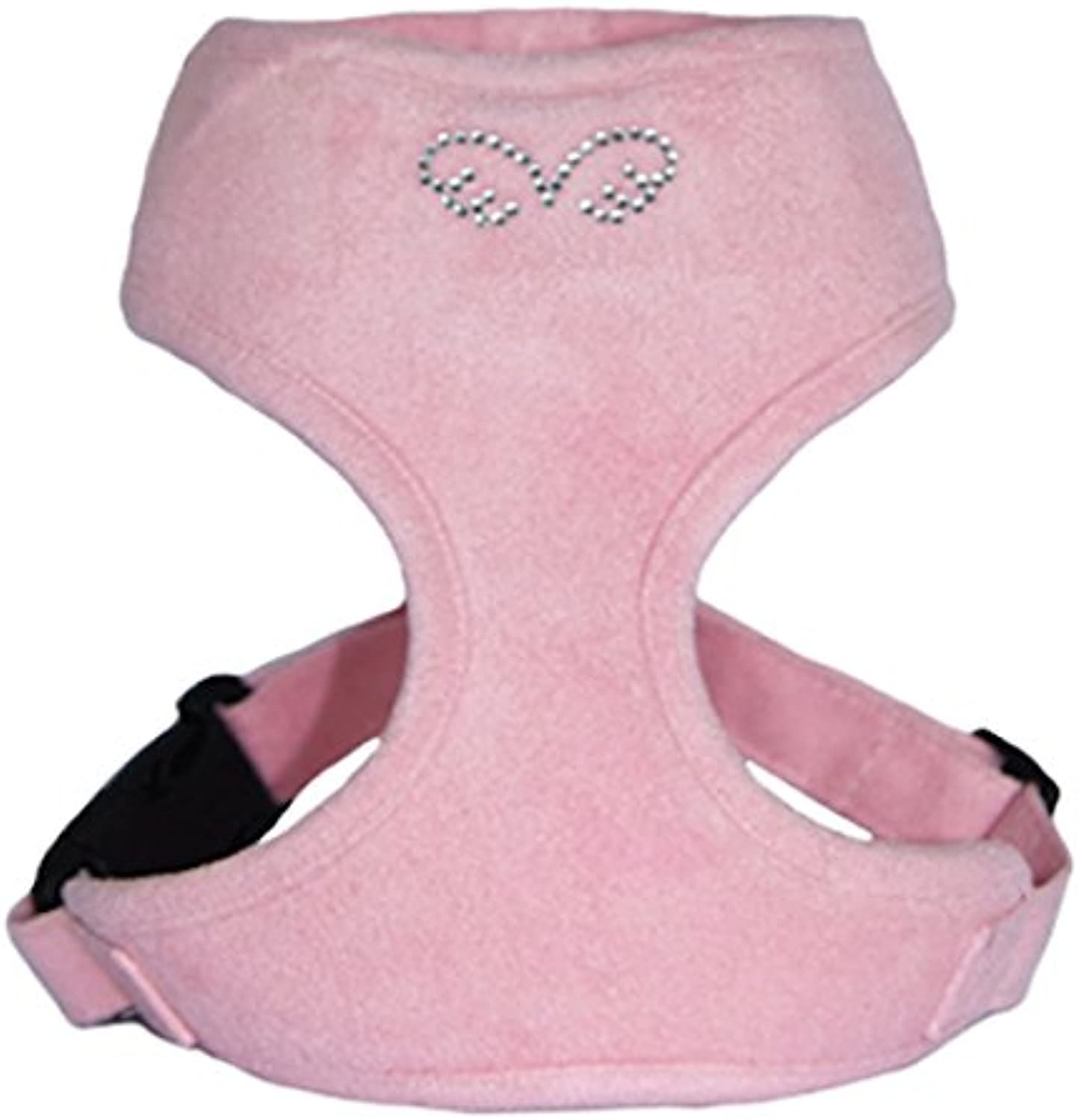 Puppy Angel Du Angione Suede Harness, Small, Baby Pink
