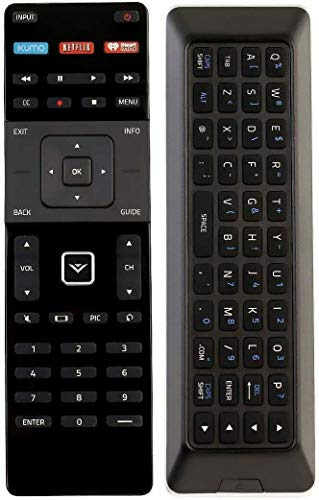 ezControl Universal Vizio Smart TV Remote Compatible with All VIZIO LCD LED SmartCast TVs with Backlit QWERTY Keyboard XUMO Netflix iHeart Radio XRT510 XRT140 XRT136 XRT500 XRT300 XRT110 XRT122