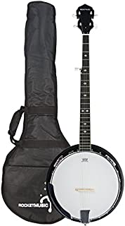 3rd Avenue Rocket Series Western 5 String Banjo with Padded Gig Bag and Remo Skin