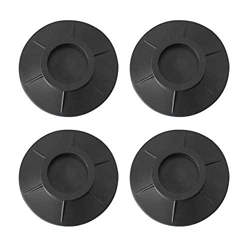 Dtaeye Antivibracion Lavadora 4 Almohadillas para pies de lavadora Soporte de Goma Antivibración Antideslizante Almohadilla para Los Pies Esterilla Antivibraciones para Lavadora y Secadora, Negro