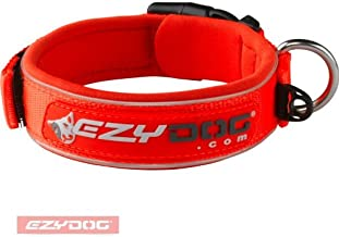 EzyDog Neopren Dog Collar, Large, Blaze Orange