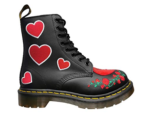 Dr. Martens 1460 Pascal Hearts Softy T Black Red 39