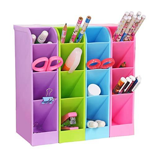 Organizador de escritorio para lápices, caja de almacenamiento multifunción con 4 compartimentos, organizador para escritorio, cocina, dormitorio, oficina, 4 unidades