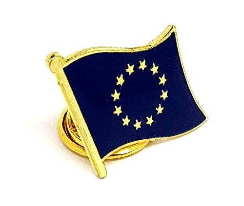 Anstecknadel mit Motiv: Nationalflagge der Europäischen Union aus emailliertem Metall