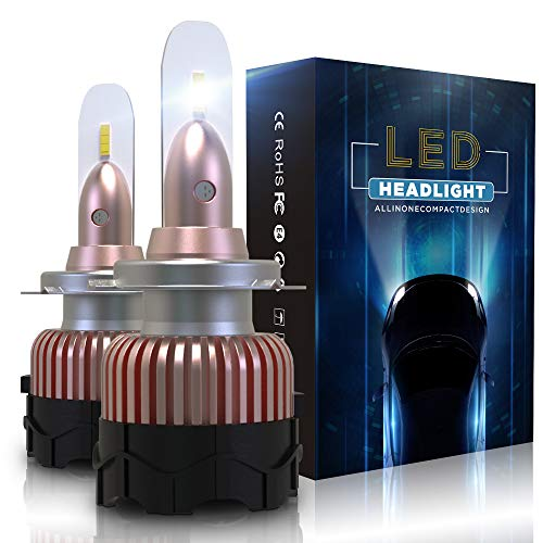 Bombilla H7 LED Coche 10800LM Faros Reemplazar de a Luz Hal