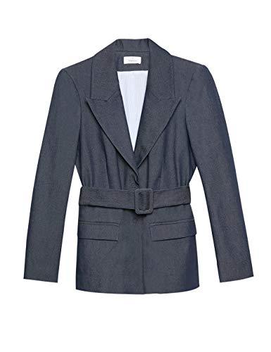 Motieven: Oversize blazer met riem in denim-look (Italian Size)