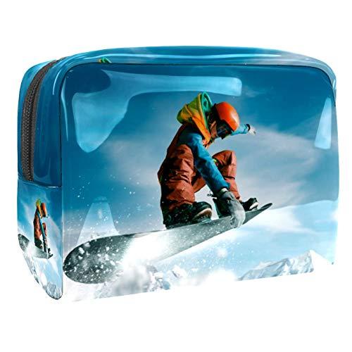 Make-up Taschen Sport Skifahren Kulturbeutel Kosmetiktasche Waschtasche für Kinder Frauen Mädchen Damen 18.5x7.5x13cm