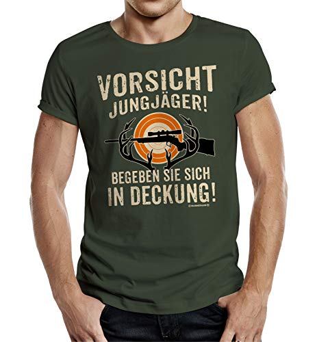 Camiseta de regalo para jóvenes cazadores. verde oliva XXXL