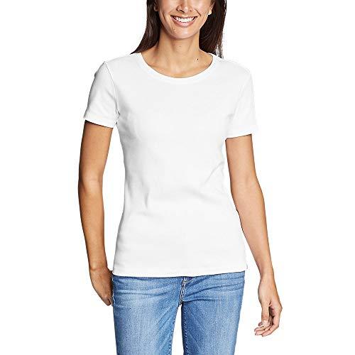 Eddie Bauer Women's Favorite Short-Sleeve Crewneck T-Shirt, White Regular XXL