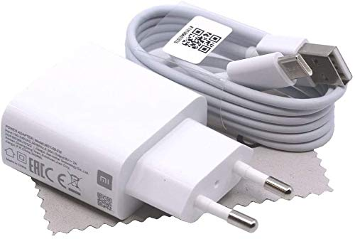 Cargador original Xiaomi MDY-09-EW 2A 10W 1m para Xiaomi Pocophone F1, Mi 5, Mi 6, Mi 8, Mi Max 3, Mi Mix 2s Cable de carga rápida con paño de limpieza Mungoo