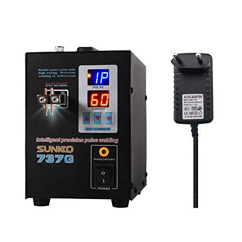 Docooler Dual-Modus-Punktschweißgerät Pedal-Batterie-Punktschweißgerät Dual-Puls-Dual-Display-Präzisions-Akku-Berührungsschweißgerät-Punktschweißgerät