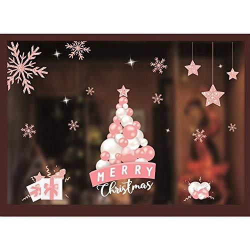 Sue-Supply Sneeuwvlok Raam Stickers, Kerst Raam Stickers Herbruikbare Kerst Raam Clings, Raam Sneeuwvlok Decoraties Twee Stijlen Maakt Het Huis Vol Van Kerstmis Sfeer