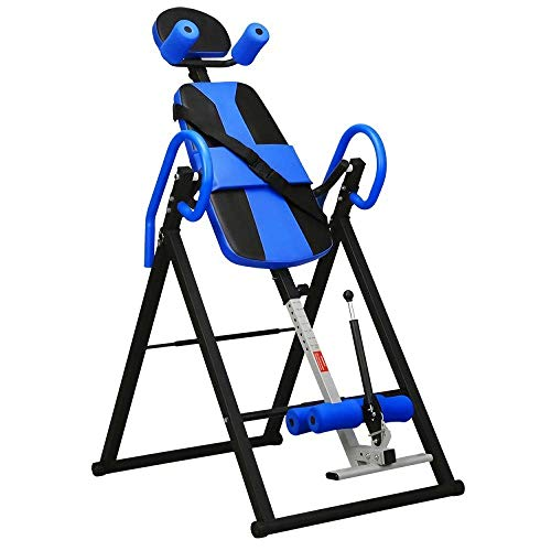 Best Price! ebeau Adjustable Heavy Duty Inversion Therapy Table/Therapy Blue Pain Relief Therapy Sto...