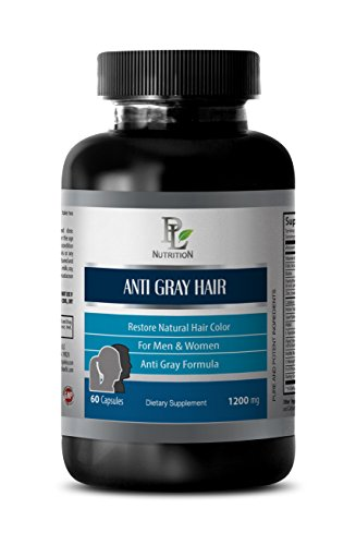 Gray Hair Reversal - Anti Gray Hair Natural Complex 1200mg - Nettle Root Extract - 1 Bottle 60 Capsules