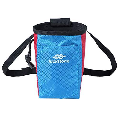 Leezo - Bolsa de Almacenamiento para Escalada con cinturón para Escalada, Escalada, Escalada, Gimnasia, Levantamiento de Pesas, Bolsa de Regalo para Mascotas, Red Blue