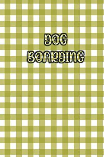 DOG BOARDING: Elegant / Beautiful Green Pattern Cover- 120...