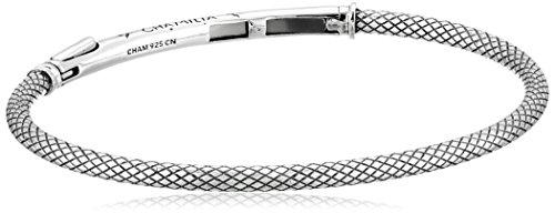 Chamilia Sterling Silver Connections Bar Bracelet Oxidized Finish Medium Bangle Bracelet