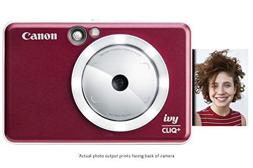 Canon IVY CLIQ+ Instant Camera Printer, Smartphone Photo Printer Via Bluetooth(R), Ruby Red